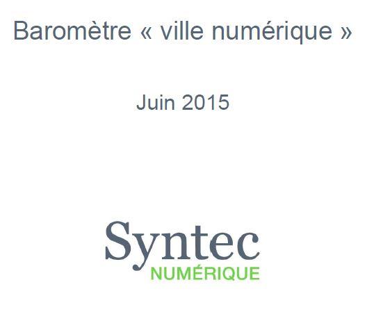 Baromètre Ville numérique 2015